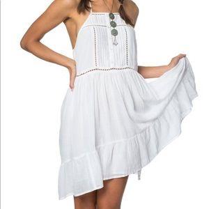 NWT O'Neill White Cascade Dress